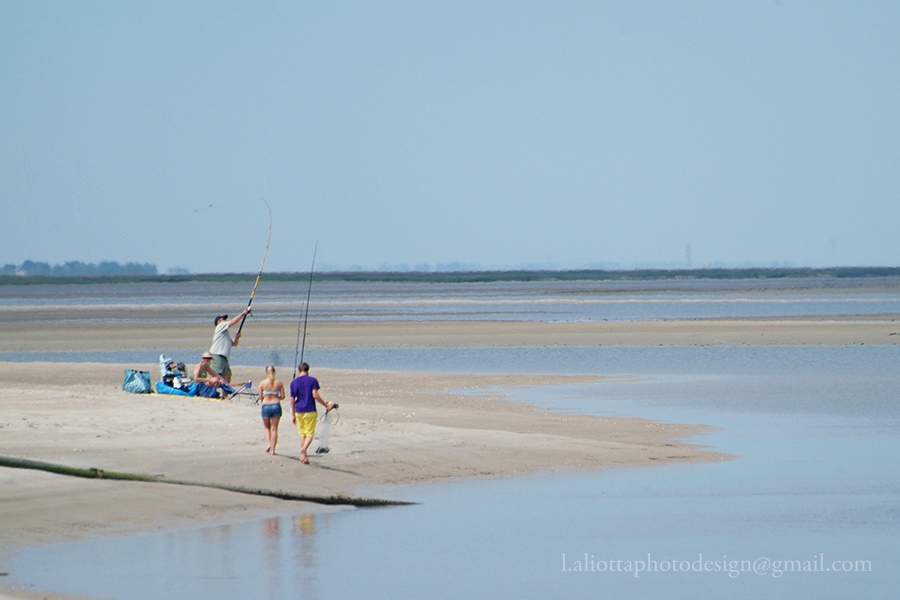 Fishing at Bald Head Inlet