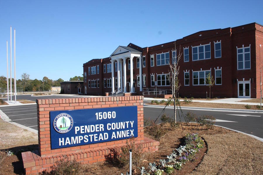 The refurbished Annex building in downtown Hampstead: photo by Sharron Swan