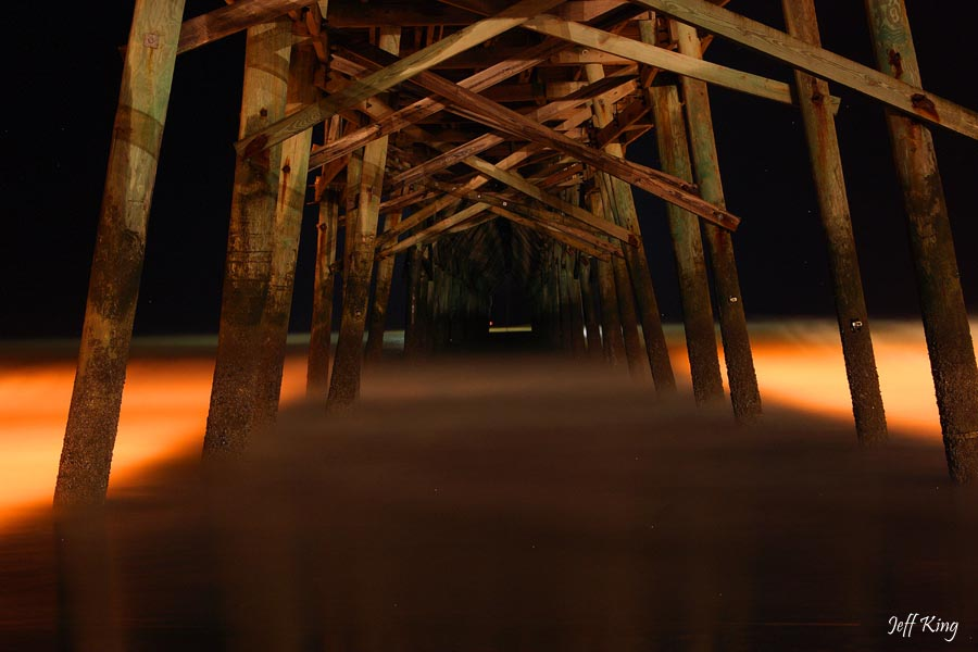 Pier at Night | Photo By : Jeff King tcgphoto.biz
